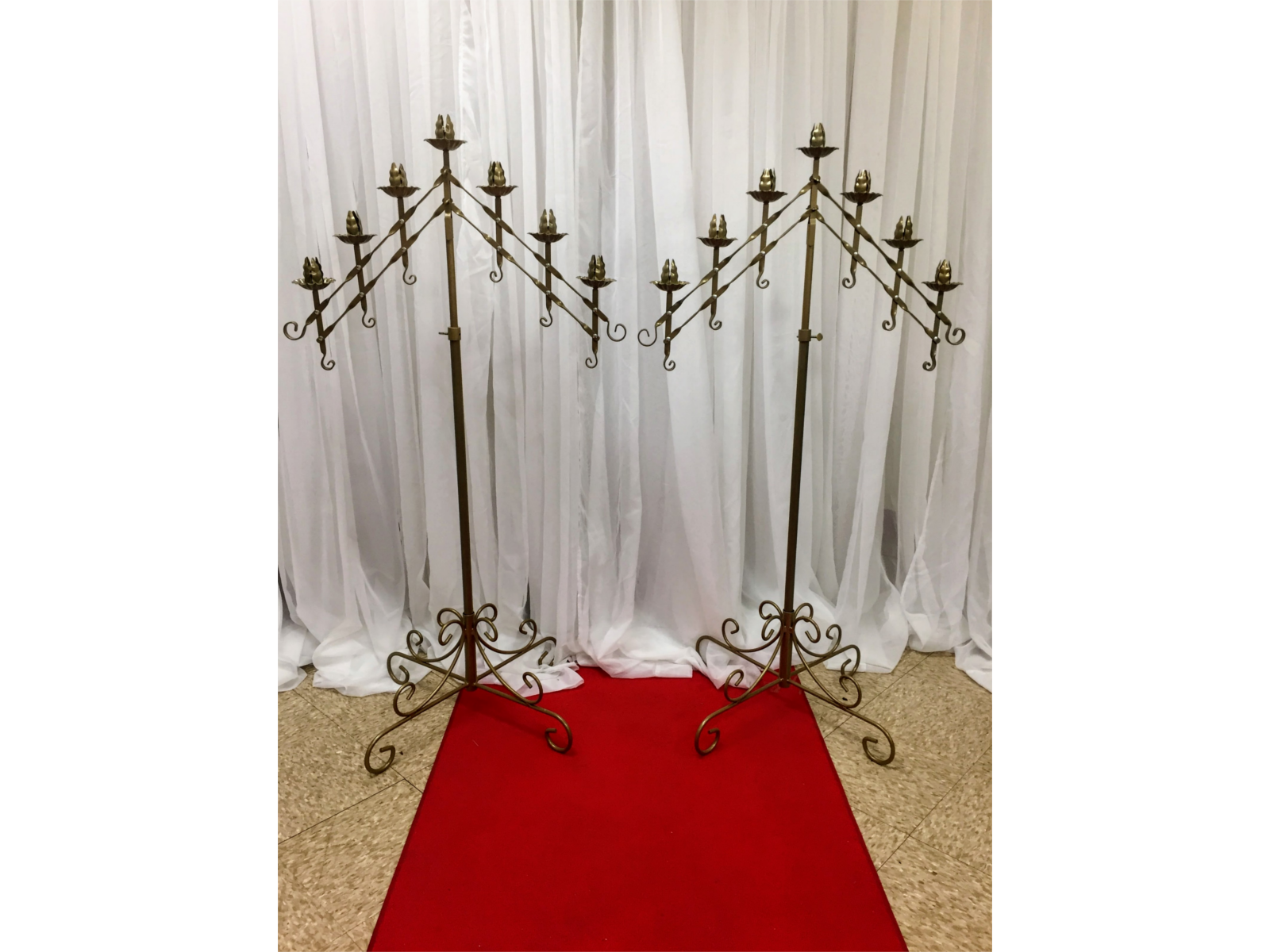 gold candelabra adjustable 2