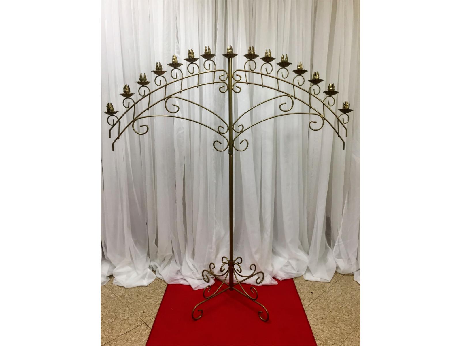gold candelabra arch