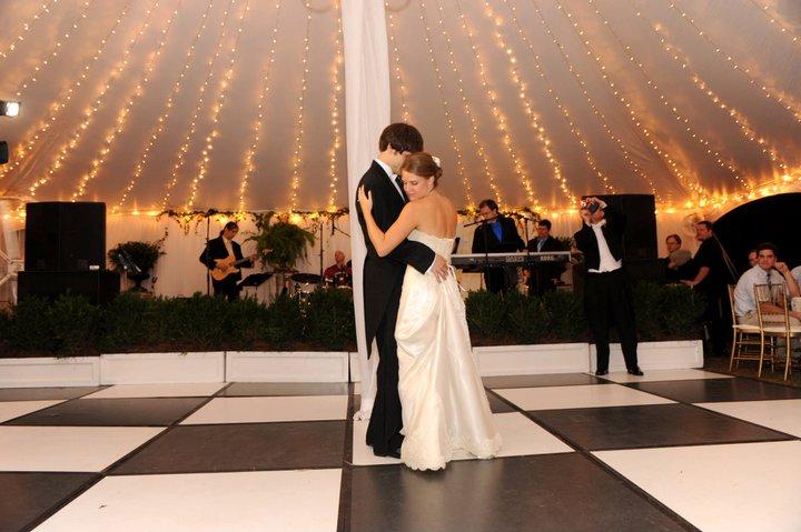 Pole Tent Interior + BW Dancefloor