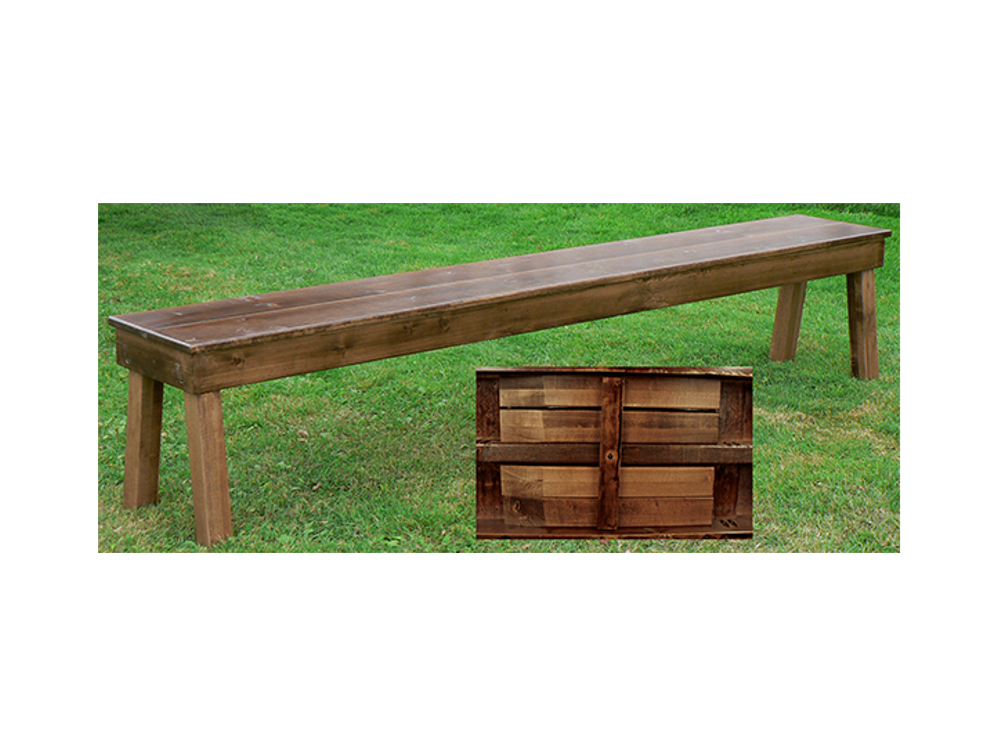 edited wooden bench