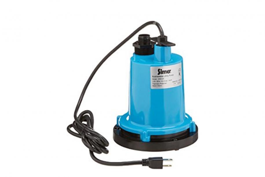 small blue pump